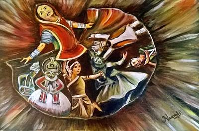 Kathakali Painting - Dancing In Harmony by Namrata Bothra