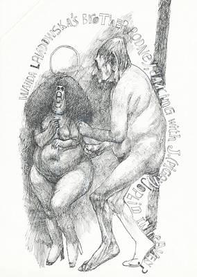 Joplin Drawing - Dancing In Heaven by Edward Henrion