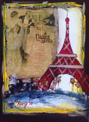 Cities Painting - Dancing In Paris by Roxy Rich