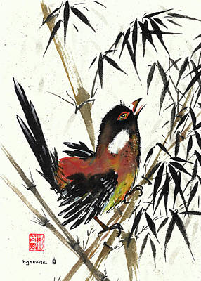 Painting - Dancing In The Bamboo by Bill Searle