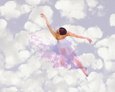 Dancing In The Clouds Art Print