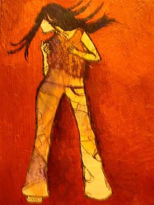 Dancing In The Club Art Print by L Visser