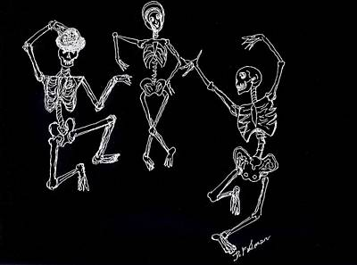 Drawing - Dancing In The Dark by Denise F Fulmer