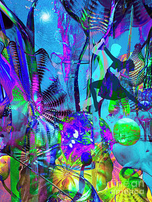 Digital Art - Dancing In The Dark by Laurel D Rund
