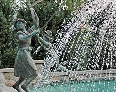 Copper Photograph - Dancing In The Fountain Frankenmuth Michigan by LeeAnn McLaneGoetz McLaneGoetzStudioLLCcom