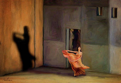 Shakespearean Painting - Dancing In The Light by Salome Hooper