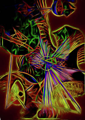 Digital Art - Dancing In The Middle by Diana Mary Sharpton