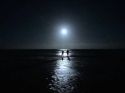 Exploramum Photograph - Dancing In The Moonlight In Blue by Exploramum Exploramum
