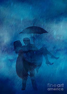Wall Art - Digital Art - Dancing In The Rain by Julie Clyde