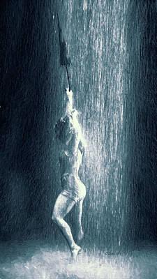 Digital Art - Dancing In The Rain by OLena Art Brand