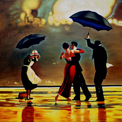 Love Painting - Dancing In The Rain by Michael Pancito