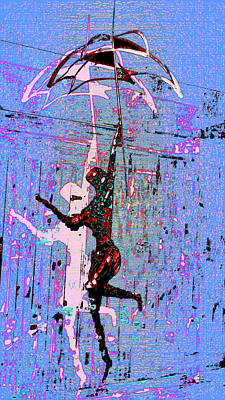 Umbrellas Digital Art - Dancing In The Rain by Tony Marquez