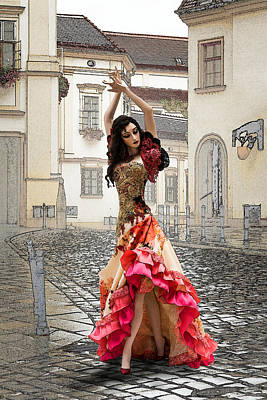 Dancing In The Street Art Print by Brainwave Pictures