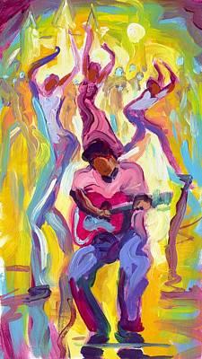 Dancing In The Streets Art Print by Saundra Bolen Samuel