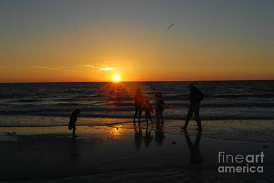 Photograph - Dancing In The Sunset by Gary Wonning