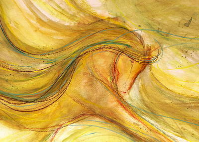 Sporthorse Mixed Media - Dancing In The Sunshine by Jennifer Fosgate