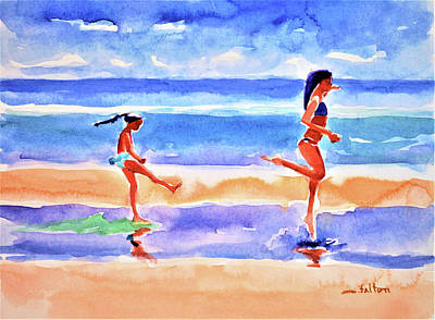 Painting - Dancing In The Surf  by Julianne Felton