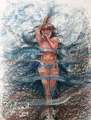 Painting - Dancing In The Water  by Laila Awad Jamaleldin