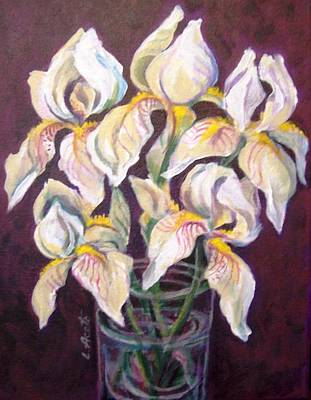 Painting - Dancing Iris by Laura Aceto
