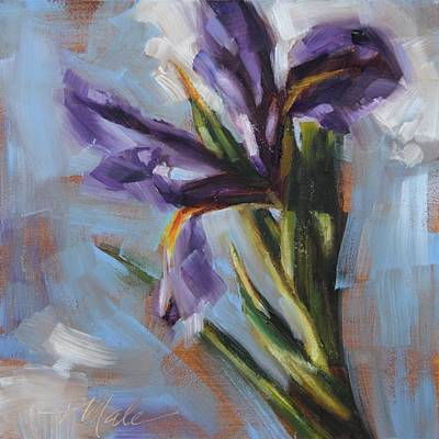 Painting - Dancing Iris by Tracy Male