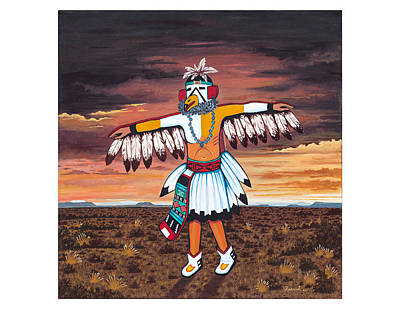 Painting - Dancing Kachina by James Roderick