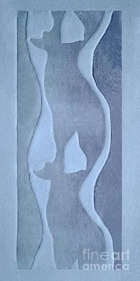 Collagraph Mixed Media - Dancing Ladies by Peter Paul Lividini
