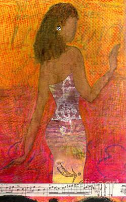 Silks Mixed Media - Dancing Lady by Angela L Walker