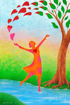 Wall Art - Painting - Dancing Lady Of Joy by Lynn Zuk-Lloyd