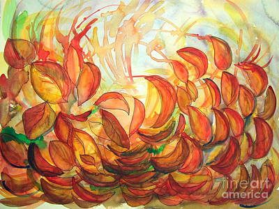 Dancing Leaves Art Print by Vanda Sucheston Hughes