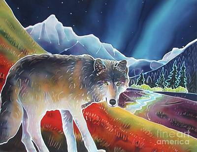 Yellowstone Painting - Dancing Lights by Harriet Peck Taylor