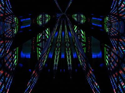 Digital Art - Dancing Lights by Jen Sparks