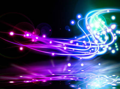 Curves Digital Art - Dancing Lights by Setsiri Silapasuwanchai