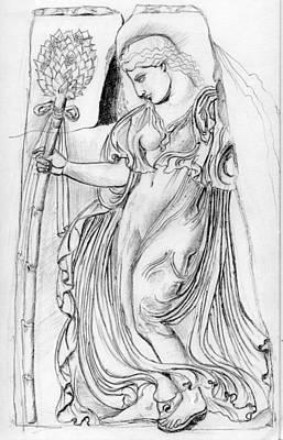 Wiccan Drawing - Dancing Maenad by Sabrina Khan