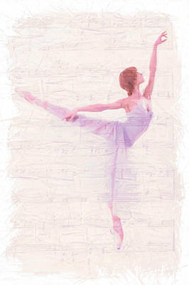 Ballet Dancers Painting - Dancing Melody by Steve K