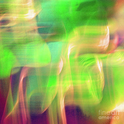 Photograph - Dancing Moods Abstract Square by Karen Adams