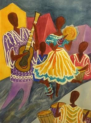 Painting - Dancing N Jammin In The Street  Abstract  by Ellen Levinson