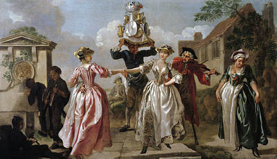 Painting - Dancing Of The Milk-girls by Francis Hayman