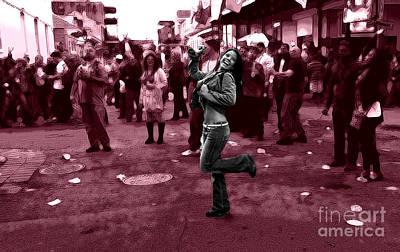 French Street Scene Digital Art - Dancing On Bourbon Street by John Rizzuto