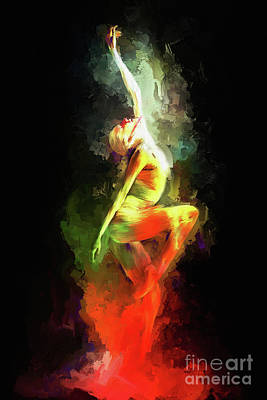 Dancing On The Floor 03  Art Print