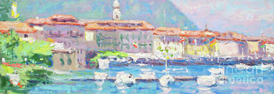 Lake Como Painting - Dancing Outside by Jerry Fresia