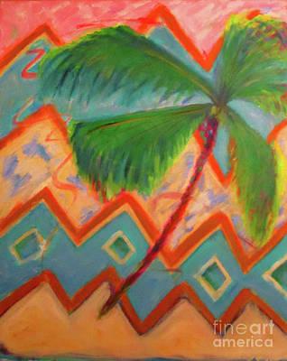 Artpro.com Painting - Dancing Palm by Karen Francis