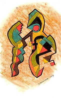 Drawing - Dancing by Paul Meinerth