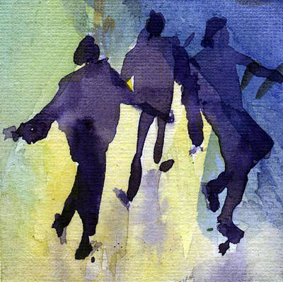 Dancing People Art Print by Natalia Eremeyeva Duarte