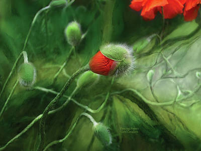 Giclee Mixed Media - Dancing Poppies by Carol Cavalaris