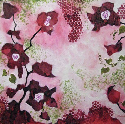 Mixed Media - Dancing Poppies by Diane Marcotte