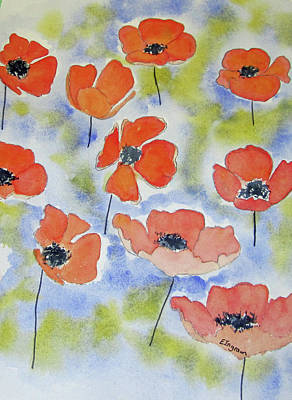 Painting - Dancing Poppies by Elvira Ingram