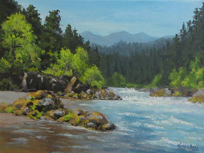 Painting - Dancing River by Karen Ilari