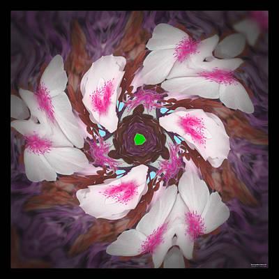 Dancing Rose Petals 57 Art Print by Brian Gryphon