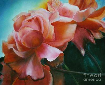 Painting - Dancing  Roses by Geri Jones