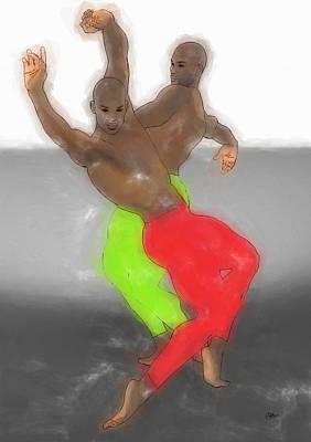 Ballet Dancers Painting - Dancing Samba by Quim Abella